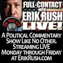 visit radio station web site - FULL-CONTACT With Erik Rush LIVE! streaming internet radio station