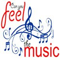 Can you feel the music logo