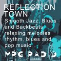 MPG Radio Reflection Town logo